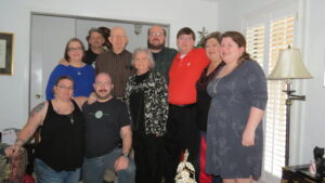 Christmas 2015 - Raven, Christopher, Carol, Suzanne, Joel, Mitch, Michael, Colin, Nancy, Christina